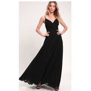 Lulu's lovely black maxi dress bridesmaid